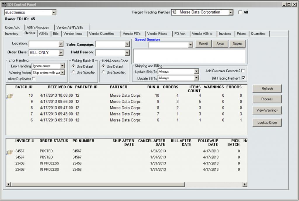 InOrder ERP Software EDI Outbound