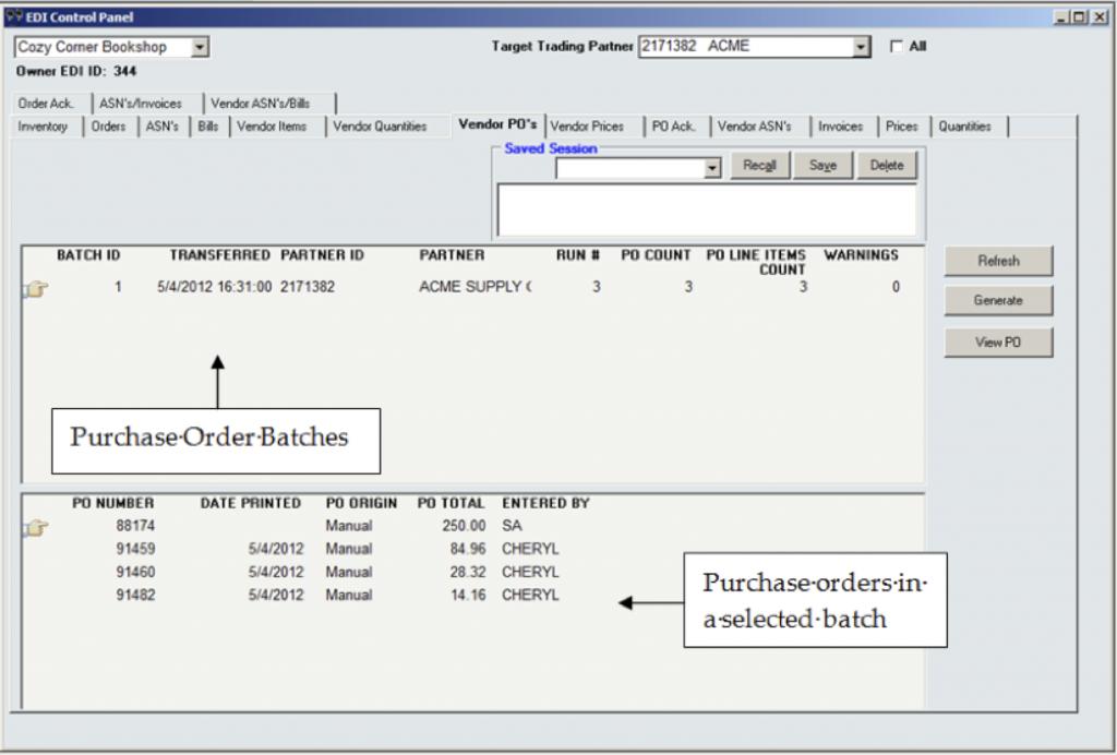 InOrder ERP Software EDI Inbound