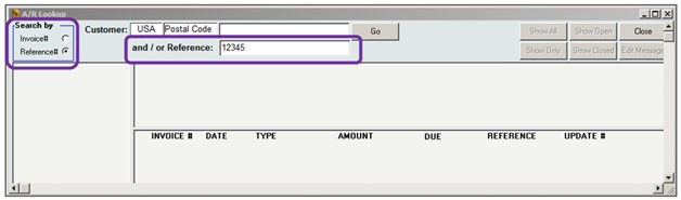 InOrder ERP Lookup Order by Check