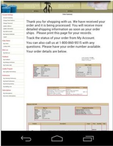 InOrder ERP Mobile Checkout