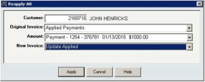 Update Applied Payment in InOrder ERP