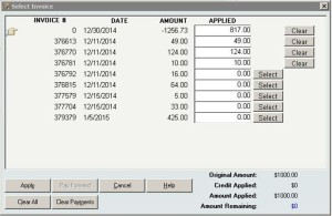 Using InOrder ERP to Continue Updating Applied Invoices