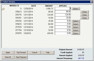 Use InOrder ERP to Apply Payment to Multiple Invoices