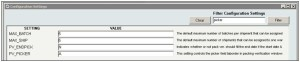 InOrder ERP Configuration Filter Results
