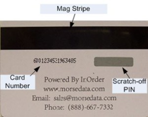 InOrder ERP Gift Cards use Strong Security Features
