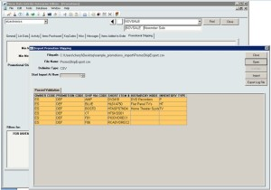 InOrder ERP Promotions Import Validation