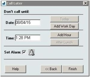 InOrder ERP Outbound Sales Call Later