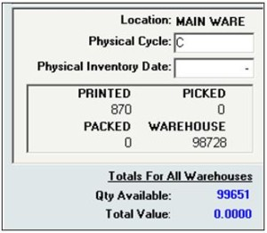 Compute Warehouse Quantity with InOrder