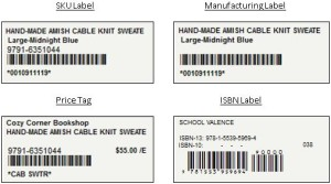 InOrder ERP Inventory Label Samples
