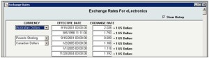 InOrder ERP Exchange Rates