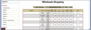 InOrder ERP Wholesale Grid
