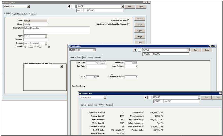 InOrder ERP Mailing List